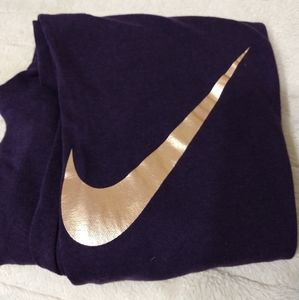 Nike joggers with rose gold swish